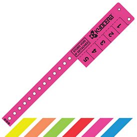 Promotional 5 Tabs Vinyl Event Entry Wristband