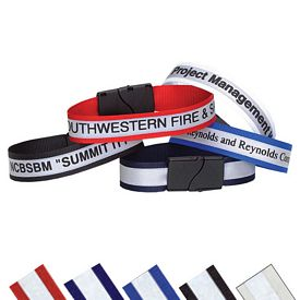 Custom Safety Reflective Click Event Wristband