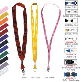 Promotional One Ply Cotton Lanyard