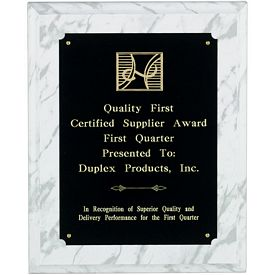 Promotional Wood White Marble Finish Award