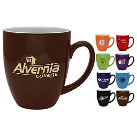 Customized 16 oz. Bistro Coffee Mug with White Inside - Promotional Ceramic Mugs