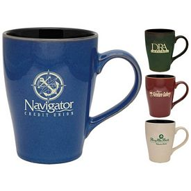 Customized 16 oz. Willow Sherwood Coffee Mugs - Promotional Ceramic Mugs