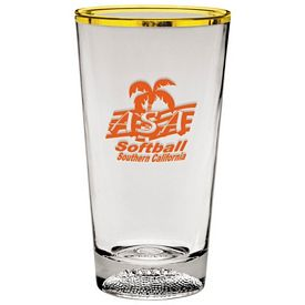 Customized 16 oz. Football Sport Mixing Glass - Promotional Bar Glassware