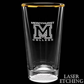 Customized 16 oz. Laser Etched Football Mixing Glass - Promotional Bar Glassware