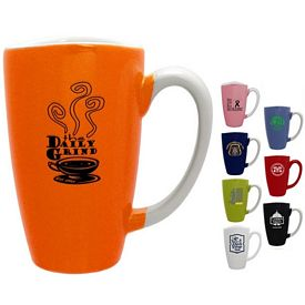 Customized 17 oz. Knight White Smile Cafe Grande - Promotional Ceramic Mugs