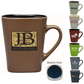 Customized 14 oz. Sterling Mug with Colored Interior - Promotional Ceramic Mugs