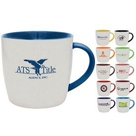 Customized 13 oz. Duo-Tone Festival Coffee Mug - Promotional Ceramic Mugs