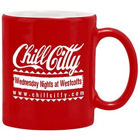 Promotional 11 oz. Duo-Tone Red Hampton Mug