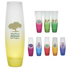 Promotional 7.5 inch Tall Green Custom Glow Amor Bud Vase