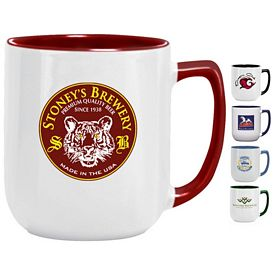 Customized 17 oz. Duo-Tone Noble Coffee Mug - Promotional Ceramic Mugs