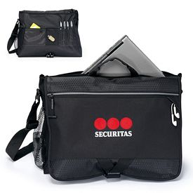 Promotional Focus Padded Computer Messenger Bag