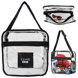 Promotional Clear Event Messenger Bag