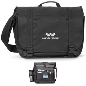 Promotional Adventure Polyester Computer Messenger Bag