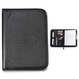 Promotional Imperial Zippered Leather E-Padfolio