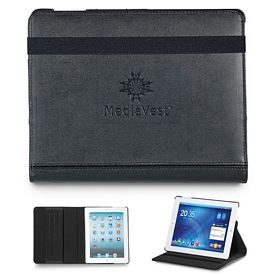 Promotional Swivel Leather iPad Stand with Sleeve