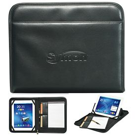 Promotional Executive 9x11.25 Wired Zippered E-Padfolio