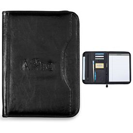 Promotional Wall Street 10.25x13.75 Zippered Padfolio