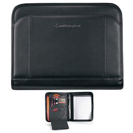 Promotional Global Zippered Calculator Ringfolio
