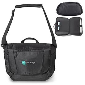 Promotional Life in Motion Polyester Peak Computer Bag