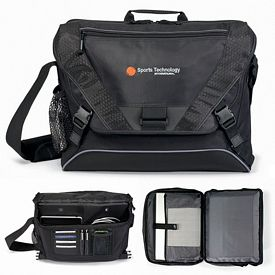 Promotional Vertex Zippered Computer Messenger Bag II