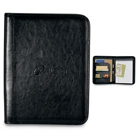 Promotional Tuscan Zippered Leather Padfolio