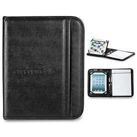 Promotional Prelude 10.25x13 Zippered Tablet Stand E-Padfolio