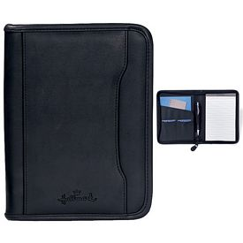 Promotional Executive 6.75x9 Zippered Junior Padfolio