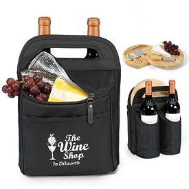 Promotional Epicurean Polyester Wine & Cheese Kit