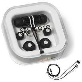 Promotional Flash Ear Buds with Mic