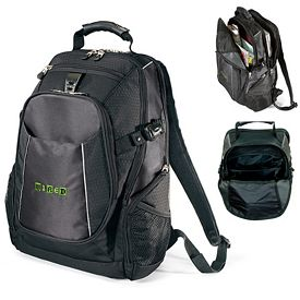 Promotional Vertex Polyester Computer Backpack