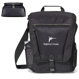 Promotional Vertex Vertical Polyester Computer Messenger Bag