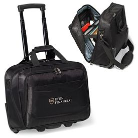 Promotional Travis & Wells Wheeled Polyester Computer Bag