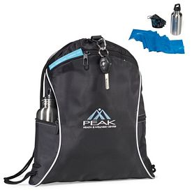 Promotional Brookstone Get Fit Polyester Gym Kit