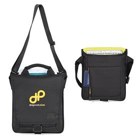 Promotional Isaac Mizrahia Polyester Twill Tablet Messenger Bag