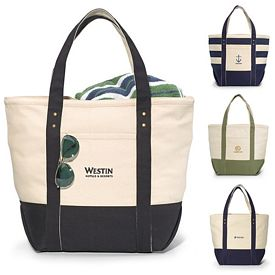 Promotional Seaside Zippered Cotton Tote Bag