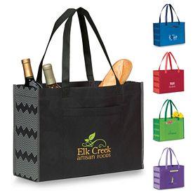 Promotional Chevron Non-Woven Shopper Tote Bag