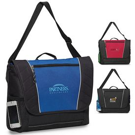 Promotional Compass Polyester Messenger Bag