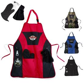 Promotional Grill Master Polyester Apron Kit