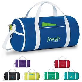 Promotional Varsity Polyester Duffel Bag