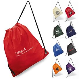 Promotional On The Go Easy Storage Polyester Cinchpack