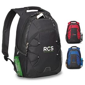 Promotional Matrix Computer Polyester Backpack