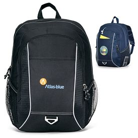 Promotional Atlas Computer Polyester Backpack