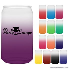 Promotional 16 oz. Soda Can Glass with Custom Frost Glow