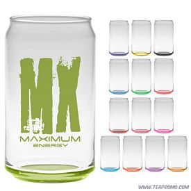 Promotional 16 oz. Soda Can Glass with Custom Glow