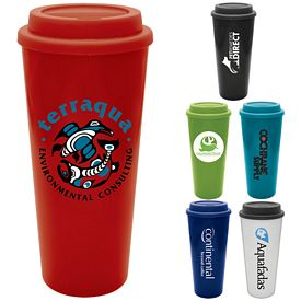 Promotional 20 oz. Java Plastic Tumbler with Lid