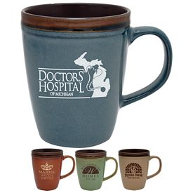 Promotional 14 oz. Antigua Ceramic Coffee Mug