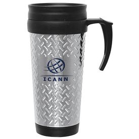 Promotional 14 oz. Steel City Tool Box Design Travel Mug