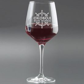 Promotional 17.25 oz. Rona Wine with Deep Etching