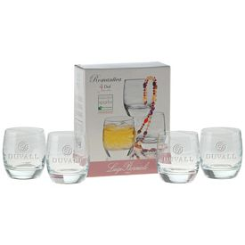 Promotional 12.75 oz. DOF Romantica Glass Gift Set with Deep Etching