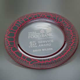 Promotional Medium Red Leopard Plate